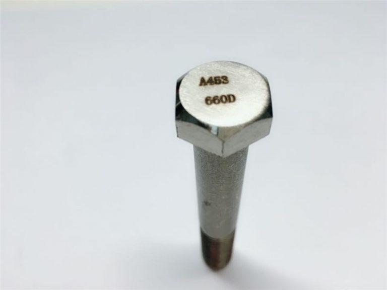 a286 รัดที่มีคุณภาพสูง astm a453 660 en1.4980 เครื่องฮาร์ดแวร์ยึดสกรู