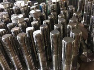 No.12-hex bolts ISO4014 ด้ายครึ่ง A193 B8, B8M, B8T, B8C SS